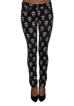 May Skull Stretch Jeans