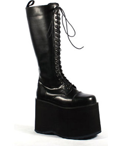 MEGA-602 Black Platform Boots