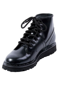 MONKEY BOOT-102 Black Leather Boots
