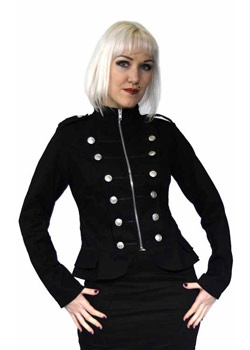 Ceres Black Military Jacket