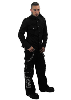 Esus Black Camo Trousers