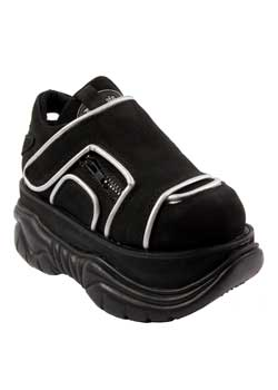 NEPTUNE-32 Black Platform Shoes
