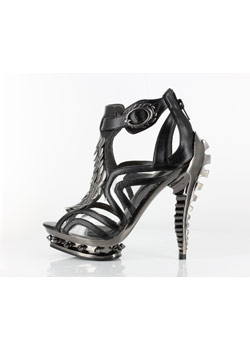 Orion Black Skeletal Stilettos