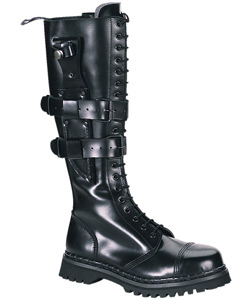 PREDATOR-I Black Leather Boots