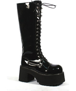 RANGER-302 Black Patent Boots