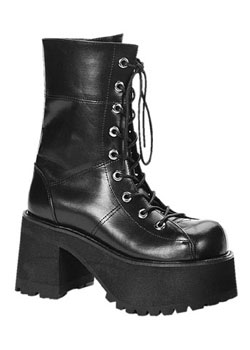 RANGER-301 Black Platform Boots