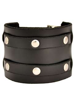 Two Row Rivet Wristband
