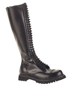 ROCKY-30 Black Leather Boots
