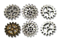 Gearwheel Buttons - Medium