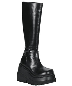 SHAKER-100 Black Platform Boots