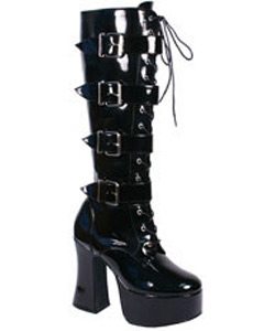 SLUSH-225 Black Buckle Boots