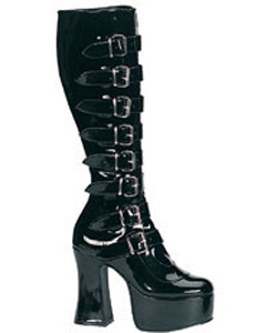 SLUSH-249 Black Patent Boots