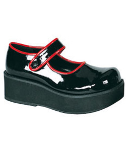 SPRITE-01 Black Red Maryjanes