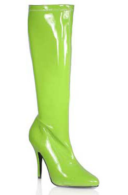 SEDUCE-2000 Limegreen Stretch Boots