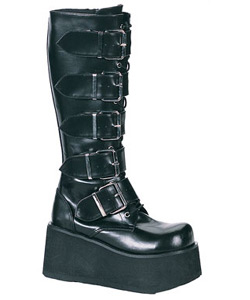 TRASHVILLE-518 Platform Buckle Boots