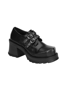 TRUMP-101 Black Buckle Shoes