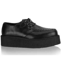 V-CREEPER-502 Black PU Creepers