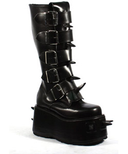 WICKED-800 Black PU Boots