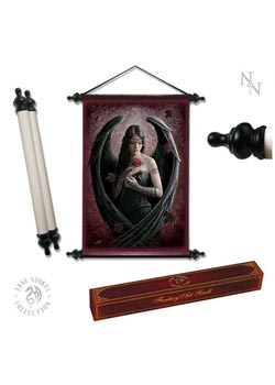 Angel Rose Art Scroll - Anne Stokes