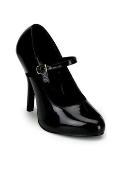 ARENA-50 Black Patent Pumps