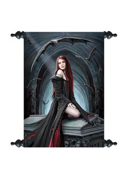 Await The Night Art Scroll - Anne Stokes
