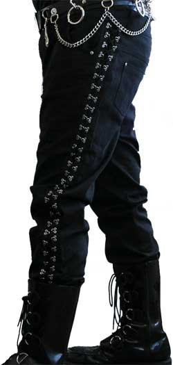 Attitude Punk Canvas Jeans