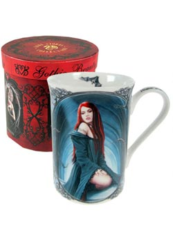 Await The Night Mug - Anne Stokes
