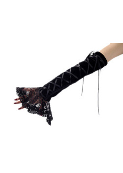 Black Gothic Enchantress Sleeve Velvet