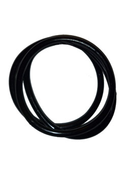 Black Rubber Bangle (Set of 3)