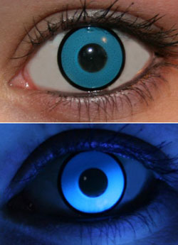Blue UV Glow Lenses