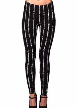 Bone Print Leggings