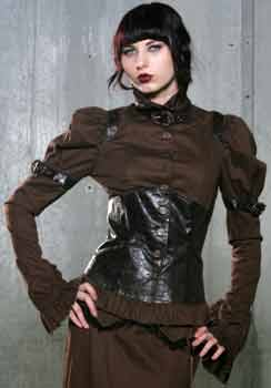Brown Steam Punk Copper Jacket