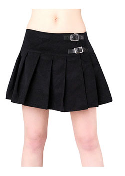 Buckle Mini Cord Skirt