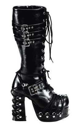 CHARADE-206 Buckle Laceup Boots