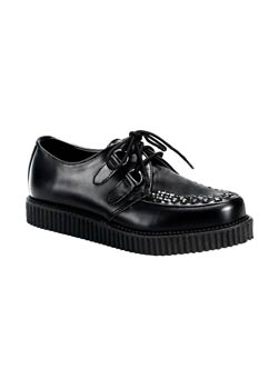 CREEPER-602 Black Leather