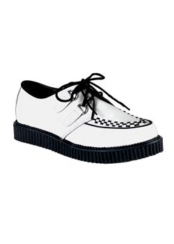 CREEPER-602 White Leather