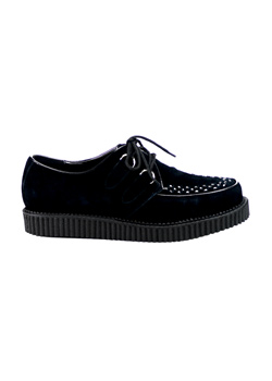 CREEPER-602S Black Suede Creepers