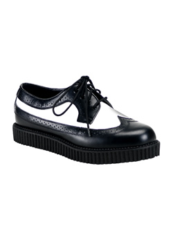CREEPER-608 Black White Creepers
