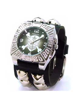 Cross Bones Skull in Tomb Case (Black) Watch