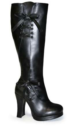 CRYPTO-300 Black Corset Boots