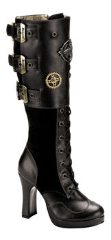 CRYPTO-302 Black Steam Boots