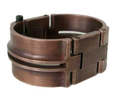 Machined Deco Slot Copper Cuff