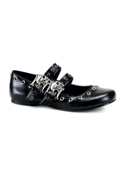 DAISY-03 Skull Buckle Flats