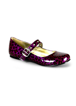 DAISY-04 Purple Cheetah Shoes