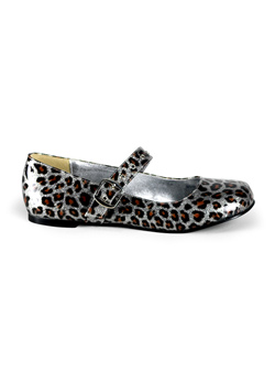 DAISY-04 Silver Cheetah Shoes