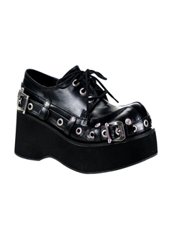 DANK-151 Black Wedge Shoes
