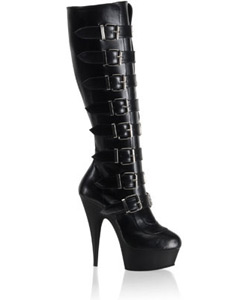 DELIGHT-2049 Black PU Boot