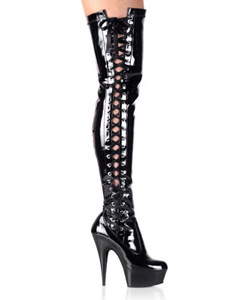 DELIGHT-3050 Black Stretch Patent