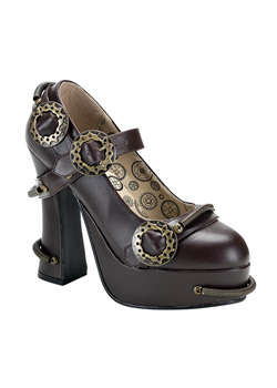 DEMON-29 Brown Steam Shoes