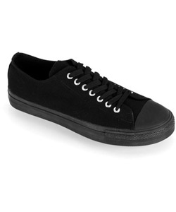 DEVIANT-01 Black Canvas Sneakers